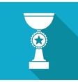 flat white trophy vector image