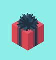 Isometric gift box icon vector image