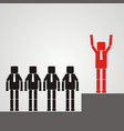 recruitment concept a worker with a square head vector image