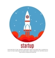 Space travel background with rocket vector image