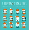 Christmas Set of avatars your office team vector image