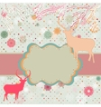 Christmas reindeer card template vector image vector image