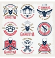 Gangster Colored Emblems vector image