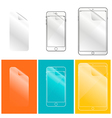 Protective film for your phone and tablet computer vector image vector image