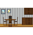 Wooden furniture in a home vector image vector image