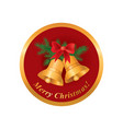 merry christmas greeting card winter holiday icon vector image