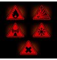 danger signs 2 vector image