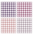 Houndstooth seamless colorful violet pattern set vector image