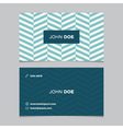 business card pattern blue 09 vector image vector image