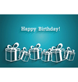 Simple gifts vector image vector image