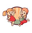 happy childrens vector image