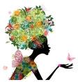 Girl arabesque vector image