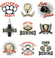 Set of the boxing club labels emblems and design vector image vector image