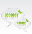Ecology bubble speech vector image vector image