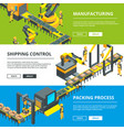 automated industry line manufacturing production vector image