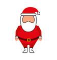 christmas happy santa claus cartoon cute vector image