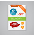 ebook markers - stickers corners labels vector image