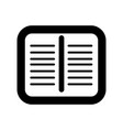 isolated notes icon vector image