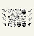 monochrome mega set of retro emblems design vector image