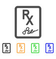 prescription page flat icon vector image