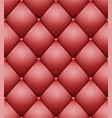 quilted pattern vintage buttoned leather vector image