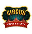 retro circus banner vector image