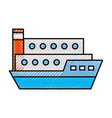ship cargo isolated icon vector image