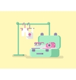 Travel concept Suitcase flat vector image