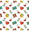 Christmas Seamless Pattern with Gifts vector image