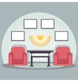 interior red chair vector image