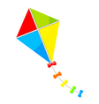 colorful kite bows vector image vector image