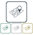 pointer on map icon vector image