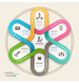 Business circle Infographics origami vector image