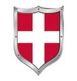 Denmark flag button vector image