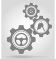 gear mechanism concept 12a vector image vector image