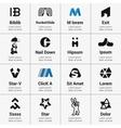 Set of Logo Designed vector image