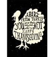 Turkey grungy card for Thanksgiving vector image vector image