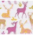 deer artistic print vector image vector image