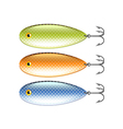 Spoon-bait isolated on white vector image