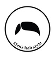 Mens hairstyle icon vector image