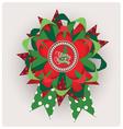 Chtistmas edition ribbon design vector image