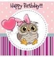 Cute Owl with Balloon vector image