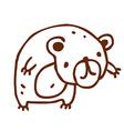 Hand Drawn Bear vector image