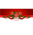 holiday red border vector image