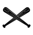 isolated pair of baseball bats vector image