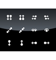 Touch Pad Gestures icons on black background vector image