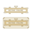 Vintage frame with decorative and floral elements vector image