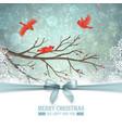 winter landscape design vector image