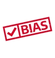 Bias rubber stamp vector image