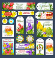 easter holiday cartoon tag and label set design vector image